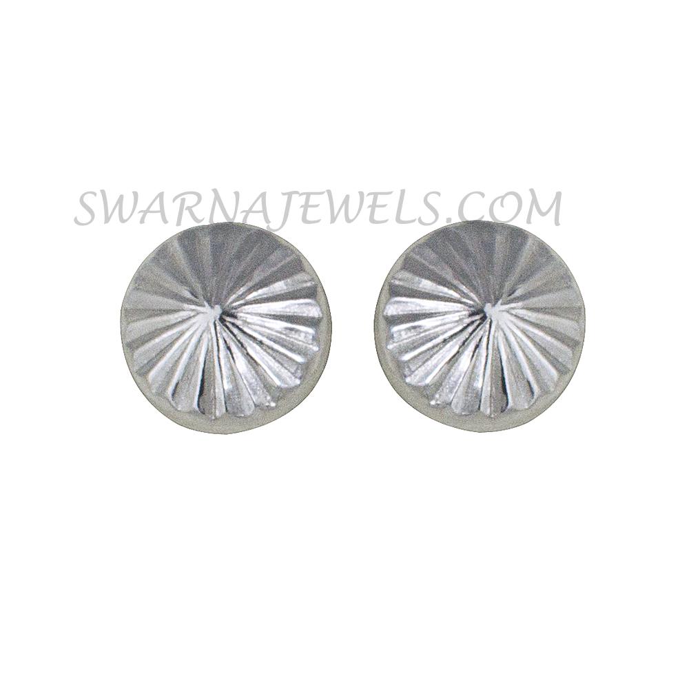 Aesthetic White Gold Earring Wwer4